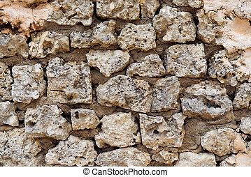 石, 古い, 壁, 写真, 手ざわり, 背景
