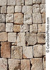 石, 古代, ブロック, メキシコ\, 壁, uxmal