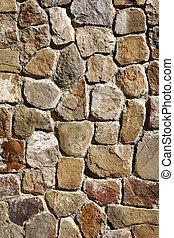 石, 古代, メキシコ\, 壁, ブロック, alban, monte