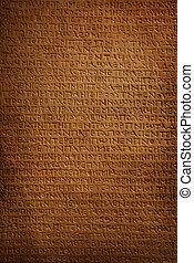 石, 古代, 刻まれた, 背景, 象形文字