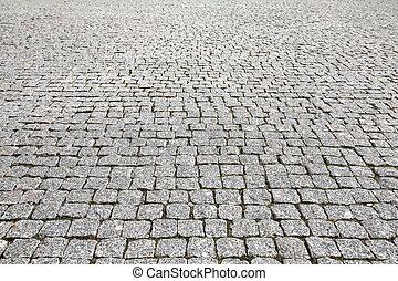 石, 型, 手ざわり, 舗装, 通り, 道
