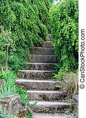石, 屋外, 階段