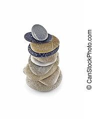 石, 山, 安定性, バランスをとられた, 高い, タワー, ∥あるいは∥