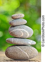 石, 木製である, 山, テーブル