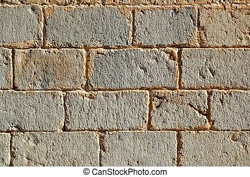石, 横列, 壁, パターン, 手ざわり, 刻まれた, 城, 石工