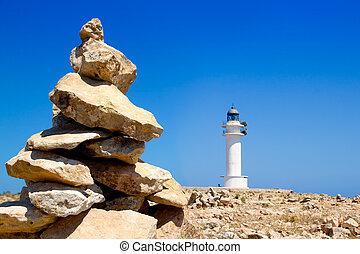 石, 灯台, 願い, 作りなさい, formentera, barbaria