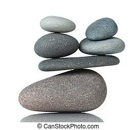 石, 積み重ねられた