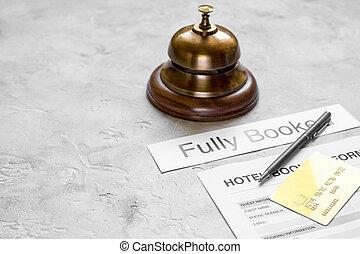 石, 背景, 形態, ホテルの受信, 机, 予約