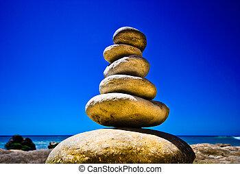石, 自然, 海, 抽象的, 背景, triumphal アーチ