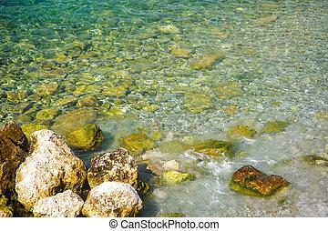 石, 航空写真, 底, アドリア海, 光景