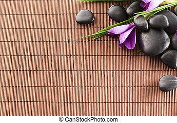 石, 花, マット, マッサージ