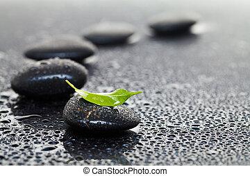 石, 葉, マッサージ