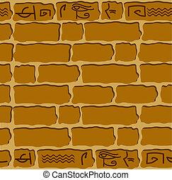 石, 象形文字, 装飾, seamless, エジプト人
