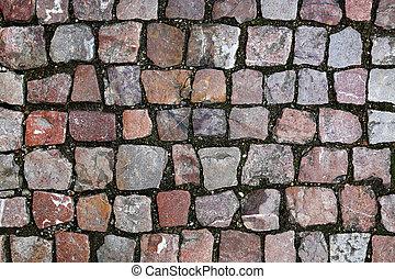 石, 通り, 舗装