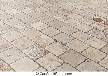 石, 通り, 舗装, 手ざわり, 道