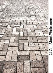 石, 通り, 道, 舗装, 手ざわり