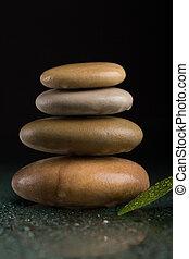 石, 黒, 禅, バランスをとる