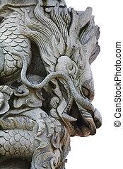 石,  carving-dragon