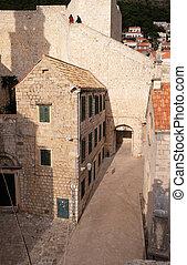 石, croatia, dubrovnik, 古い, 家