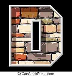 石, d, 手紙