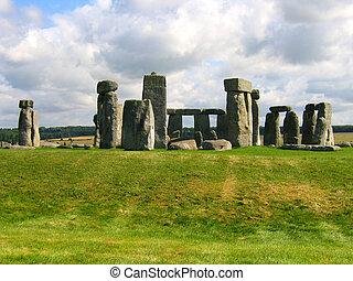 石, henge, イギリス\