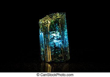 石, indigolite, 黒, bac, 鉱物