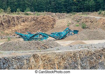 石, industry., 石, 仕事, quarry., -, 鉱山, 機械, quarrying, crusher., 建設, works., 粉砕機