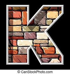 石, k, 手紙
