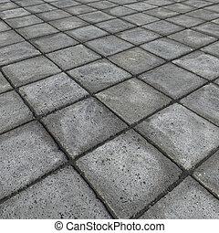 石, render, 広場, 灰色, コンクリート, タイル, hd, 舗装, 3d