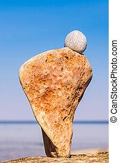 石, rough-textured, 自然