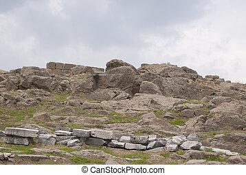 石, trajan, 寺院, 台無しにされる
