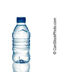 矿物, 春天水, 瓶子, 净化, 反映