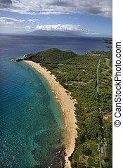 砂のビーチ, aerial.