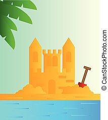 砂の 城, 海