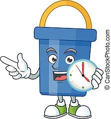 砂バケツ, 時計, 漫画, 概念, 青, デッサンの円
