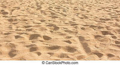 砂パターン, の, a, 浜, 中に, ∥, 夏