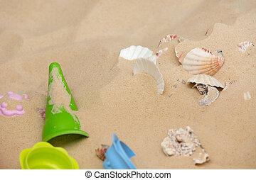 砂ビーチ, おもちゃ