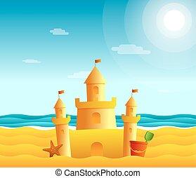 砂ビーチ, 城