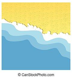 砂ビーチ, 海, 背景