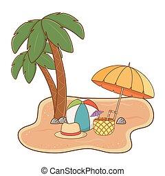砂ビーチ, 風景
