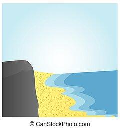 砂ビーチ, 風景, 海