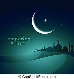 砂丘, 砂, モスク, ramadan, 挨拶