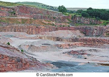 砂岩, 採石場