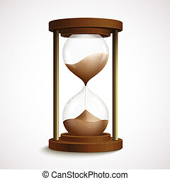 砂時計, レトロ, 時計