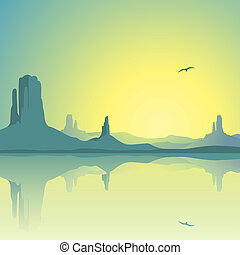 砂漠の 景色