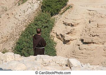 砂漠, イスラエル, judea, 修道士