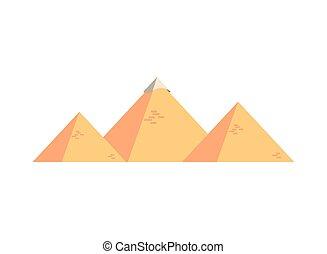 砂漠, ピラミッド, アイコン, エジプト人, 現場