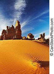 砂漠, tassili, sahara, n'ajjer, アルジェリア