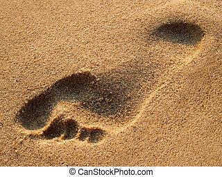 砂, 人間, 跡