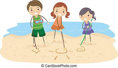 砂, 図画